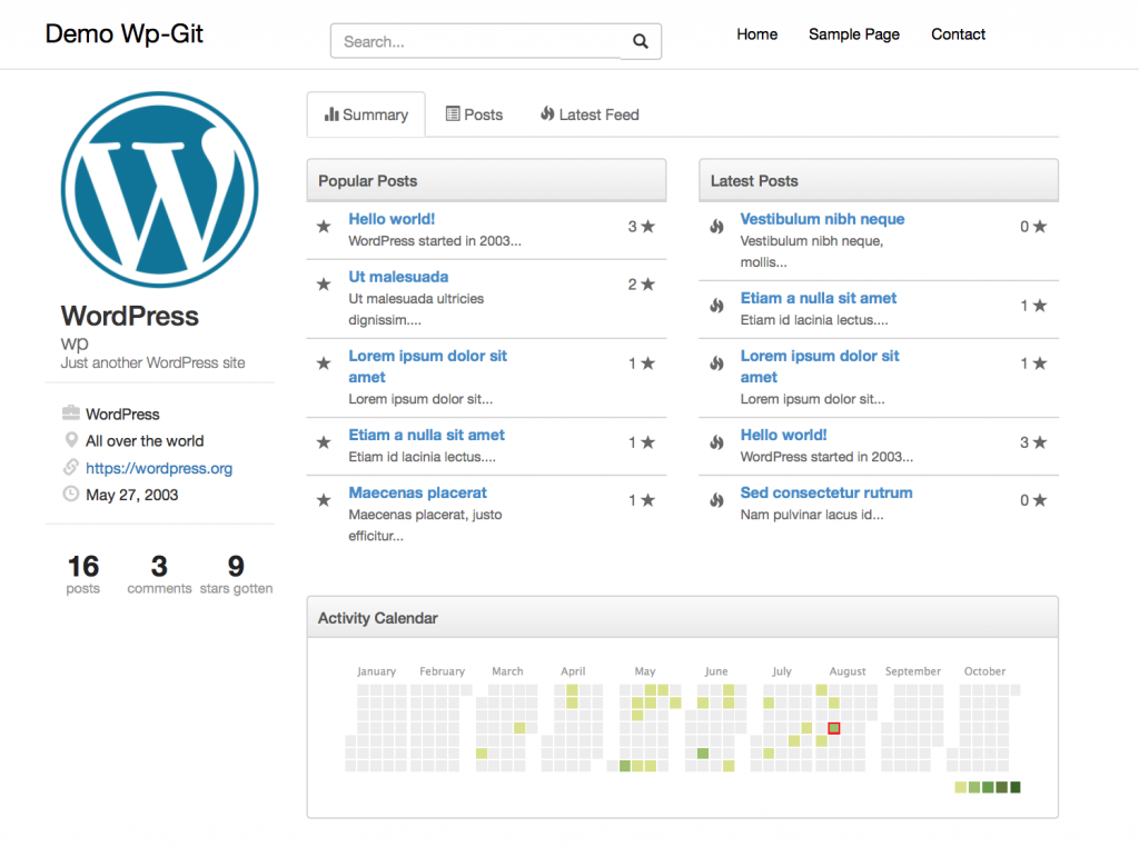wp-git-homepage
